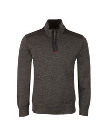 Paul & Shark Mens Grey Padded Half Zip Jumper
