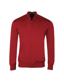 Paul & Shark Mens Red Half Zip Jumper