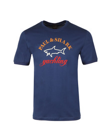 Paul & Shark Mens Blue Large Logo T Shirt