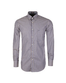 Paul & Shark Mens Blue Button Down Triple Stripe Shirt