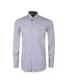 Paul & Shark Mens Blue Button Down Gingham Check Shirt