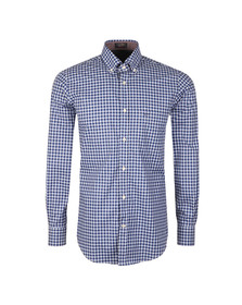 Paul & Shark Mens Blue Button Down Check Shirt