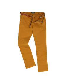 Scotch & Soda Mens Yellow Classic Garment Dyed Chino