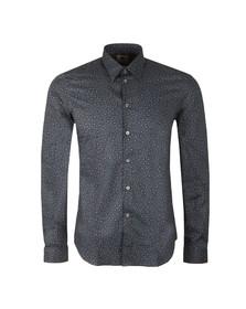 Paul Smith Mens Blue L/S Floral Print Shirt