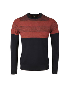 PS Paul Smith Mens Blue Merino Stripe Jumper