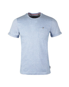 Ted Baker Mens Blue Vue S/S Jacquard Tee