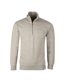 Edwin Mens Grey Warm Up Pop Over Sweat