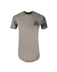 Kings Will Dream Mens Grey Ballmano Back Vertical Logo Tee