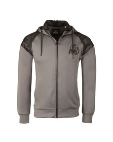 Kings Will Dream Mens Grey Gasper Mesh Full Zip Hoody