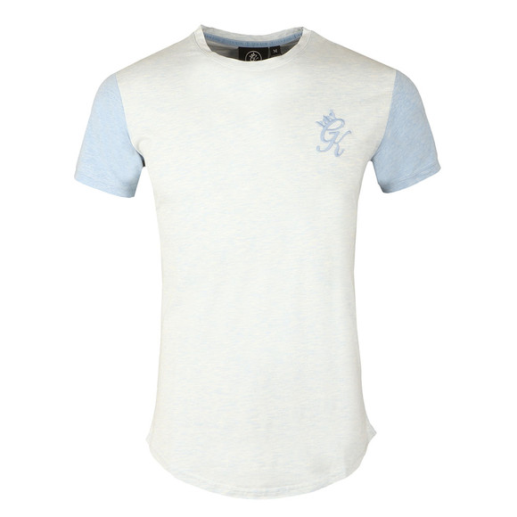 Gym king Mens Blue James Contrast T Shirt main image