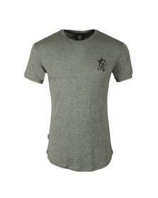 Gym king Mens Blue Long Line Salt n Pepper Tee