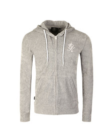 Gym king Mens Grey Herc Velour Tracksuit Top