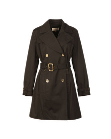 Michael Kors Womens Black Pleated Trench