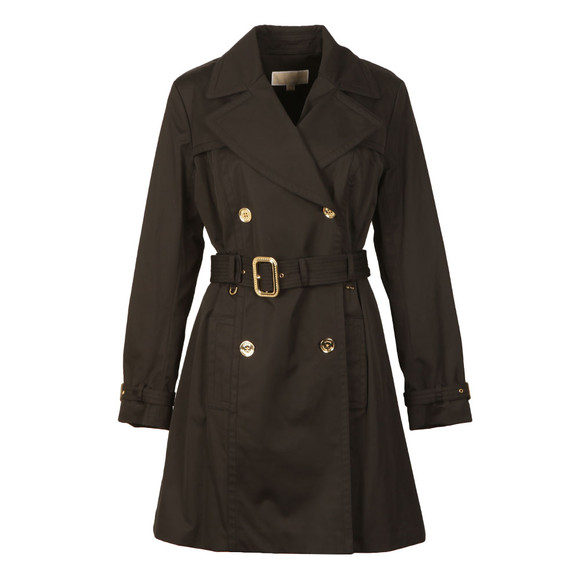 Michael Kors Womens Black Pleated Trench main image