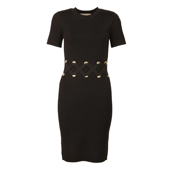 Michael Kors Womens Black Lace Detail Dress