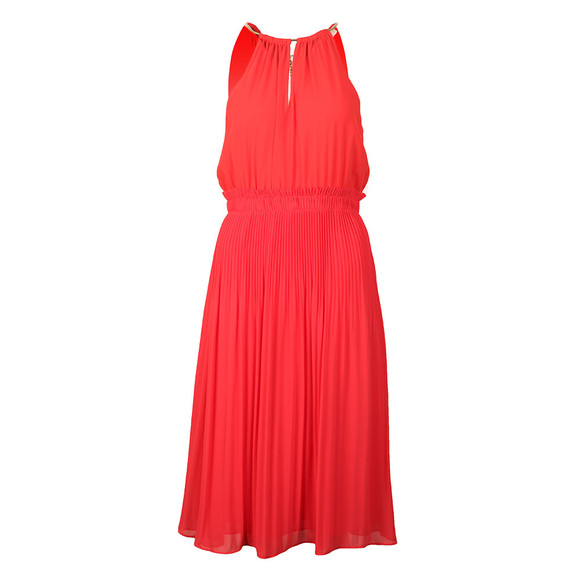 Michael Kors Womens Red Chain Neck Dress main image