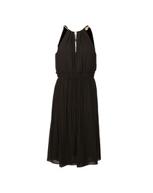 Michael Kors Womens Black Chain Neck Dress
