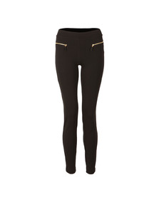 Michael Kors Womens Black Sleek Zip Ponte Pant