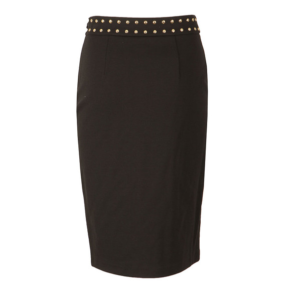 Michael Kors Womens Black Embellished Slit Band Skirt main image