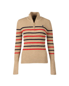 Maison Scotch Womens Beige Half Zip Jumper