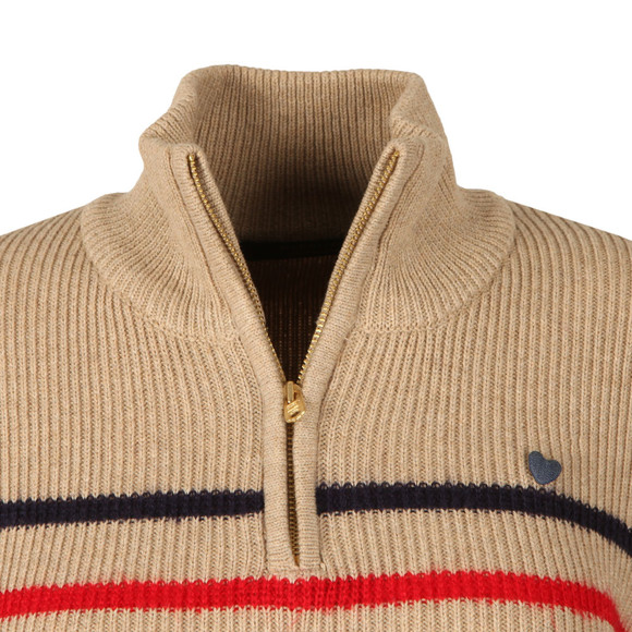 Maison Scotch Womens Beige Half Zip Jumper main image