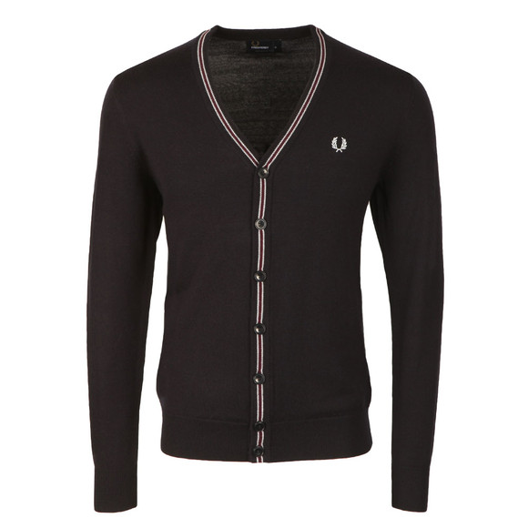 Fred Perry Mens Blue Merino Cardigan main image