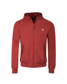 Fred Perry Mens Red Hooded Brentham Jacket