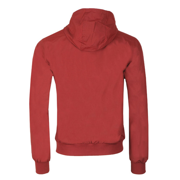 Fred Perry Mens Red Hooded Brentham Jacket main image