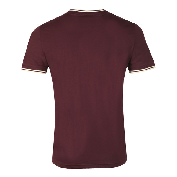 Fred Perry Mens Red Twin Tipped T-shirt main image
