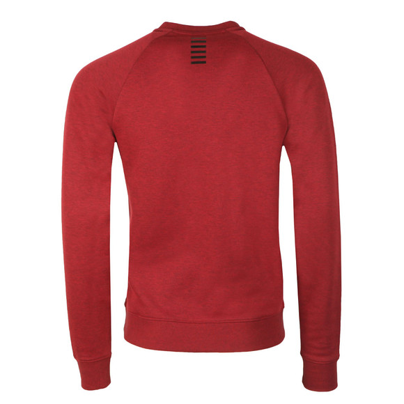 EA7 Emporio Armani Mens Red Small Logo Crew Sweatshirt main image