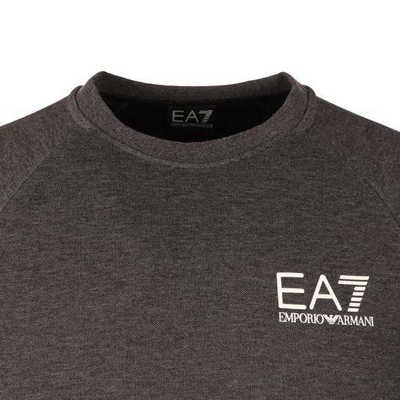 EA7 Emporio Armani Mens Grey Small Logo Crew Sweatshirt main image