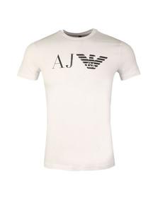 Armani Jeans Mens White 8N6T99 Logo T Shirt
