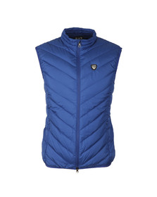EA7 Emporio Armani Mens Blue Shield Logo Down Gilet