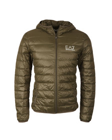 EA7 Emporio Armani Mens Green Train Core ID Light Down Jacket