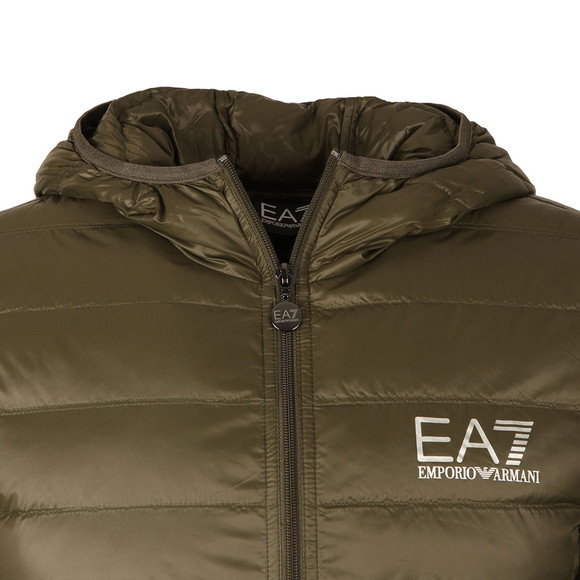 EA7 Emporio Armani Mens Green Train Core ID Light Down Jacket main image