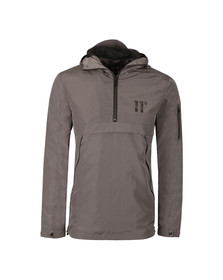Eleven Degrees Mens Grey Hurricane Windbreak