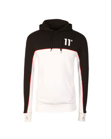 Eleven Degrees Mens Black Cut & Sew Hoodie
