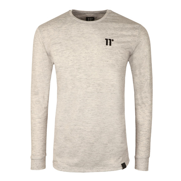 Eleven Degrees Mens Grey Composite Long Sleeve T-Shirt