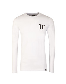 Eleven Degrees Mens White Core Long Sleeve T-Shirt