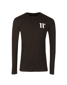 Eleven Degrees Mens Black Core Long Sleeve T-Shirt