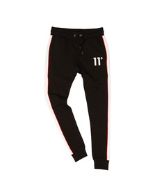 Eleven Degrees Mens Black Cut & Sew Skinny Jogger