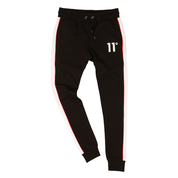 Eleven Degrees Mens Black Cut & Sew Skinny Jogger  main image