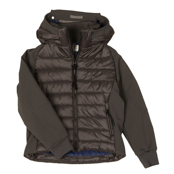 C.P. Company Undersixteen Boys Grey Puffer Soft Shell Jacket main image