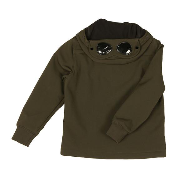 C.P. Company Undersixteen Boys Green Goggle Shell Jacket main image