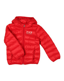 EA7 Emporio Armani Boys Red Down Puffer Jacket