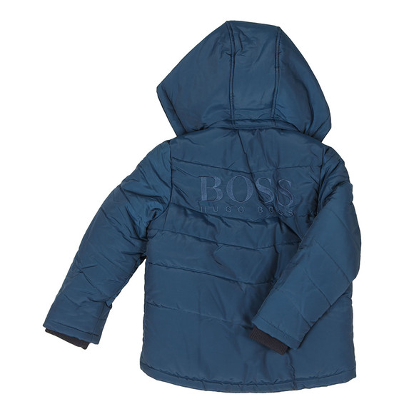 BOSS Bodywear Boys Blue J26324 Puffer Jacket main image