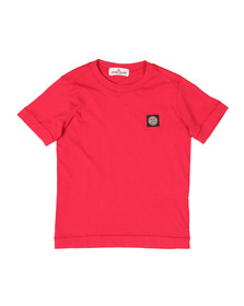 Stone Island Junior  Boys Red Square Patch Logo T Shirt