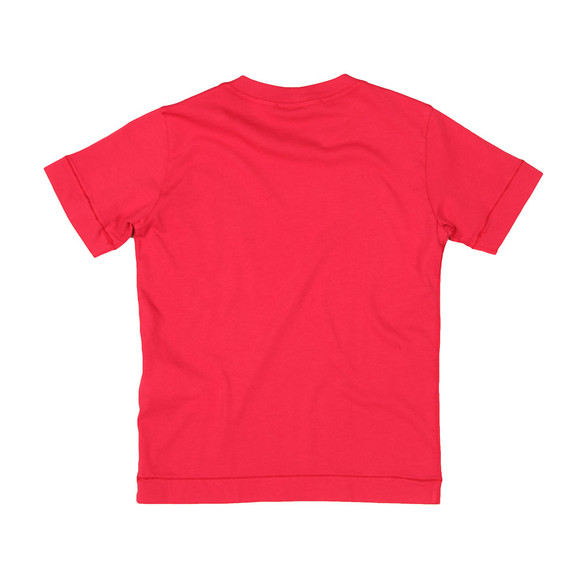 Stone Island Junior  Boys Red Square Patch Logo T Shirt main image