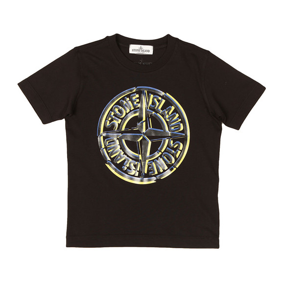 Stone Island Junior  Boys Black Large Compass Logo T Shirt main image