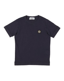 Stone Island Junior  Boys Blue Square Patch Logo T Shirt